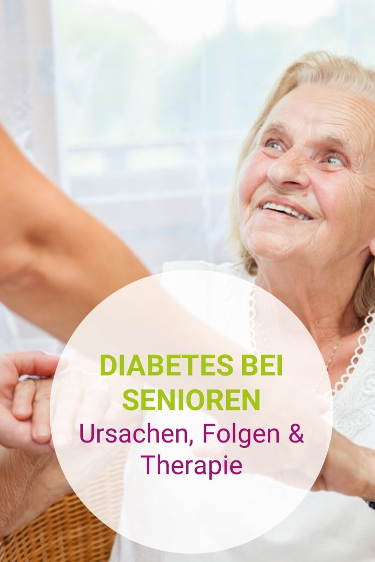 Seniorin mit Diabetes